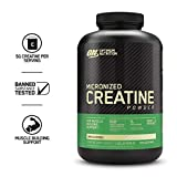Optimum Nutrition Micronized Creatine Monohydrate Powder, Unflavored, Keto Friendly, 120 Servings