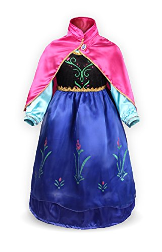 ReliBeauty Little Girls G8180 Retro Princess Fancy Dress Costume, 6X, Blue