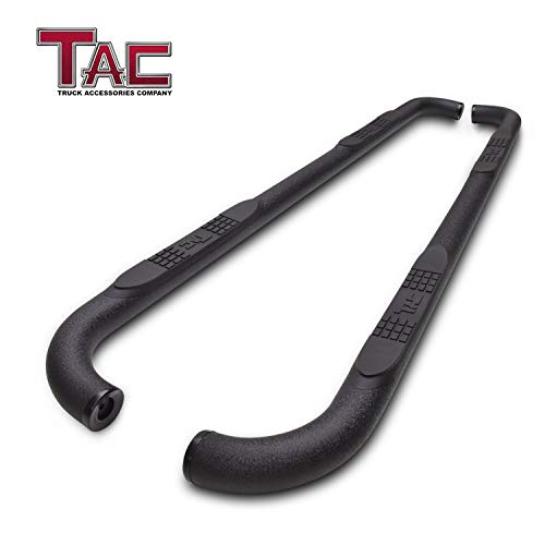 "TAC Side Steps Running Boards Fit Chevy Silverado/GMC Sierra 2001-2018 1500 & 2001-2019 2500/3500 Crew Cab (Excl. C/K Classic) Truck Pickup 3"" Side Bars Nerf Bars Off Road Accessories"