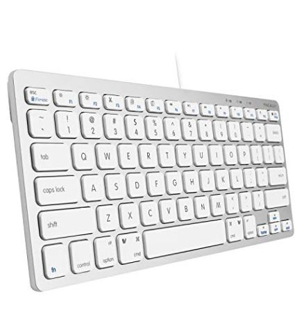 062d7929edb Macally USB Wired Compact Keyboard | Small & Slim Design | Compatible with  Apple Mac Mini