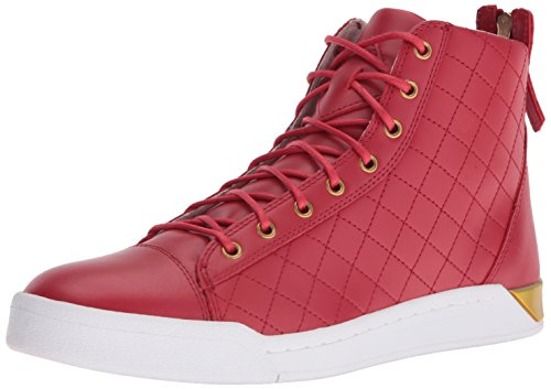 41EX3u7Xl5L Leather high-top featuring lace-up vamp and rear zipper Padded collar Logoed counter