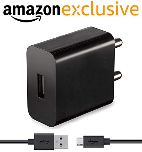 Charger for Amazon Fire 7 Charger Like Adapter Wall Charger | Mobile Chargers | Fast Charger | USB Charger with 1 Meter Micro USB Charging Data Cable (2.4 Amp, Black)