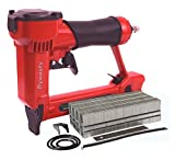 Pneumatic Staple Gun Kit, KT-50 Type 1/2' Wide Crown Air Stapler, 21 Gauge, 1/4-Inch to 5/8-Inch, with 3000 staples and spare parts