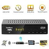 Leelbox Digital Converter Box for Analog TV 1080P ATSC Converters with Recording, Pause Live TV, Multimedia Playback HDTV Set Top Box