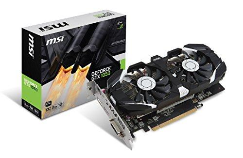 MSI GAMING GeForce GTX 1050 2GB GDRR5 128-bit HDCP Support DirectX 12 Dual Fan OC Graphics Card (GTX 1050 2GT OC)