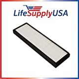 LifeSupplyUSA 2 Pack Replacement HEPA Filter fits Alen TF60 and T500 Air Purifier