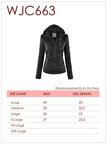 Lock and Love Women's Hooded Faux Leather Moto Biker Jacket (XS~2XL) 7 Fashion Online Shop gifts for her gifts for him womens full figure