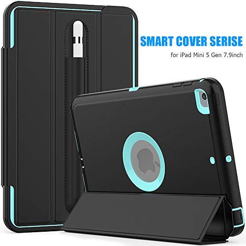 Sevrok iPad Mini 5 Case Full-Body Shockproof Defender Smart Auto Sleep/Wake Featured with Pencil Holder for New Apple iPad Mini 5th Generation 2019 Released