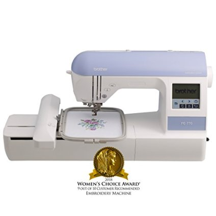 """Brother Embroidery Machine, PE770, 5"""" x 7"""" Embroidery Machine with Built-in Memory, USB Port, 6 Lettering Fonts, 136 Built-in Designs"""