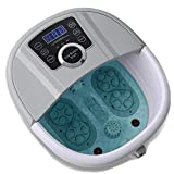 Foot Spa Bath Massager with Heat and Automatic Massage Foot Pedicure Spa Machine Athletes Foot Bubble Soak Tub,Digital Adjustable Temperature Control