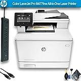 HP Color Laserjet Pro M477fnw All-in-One Laser Printer (CF377A) Office Bundle