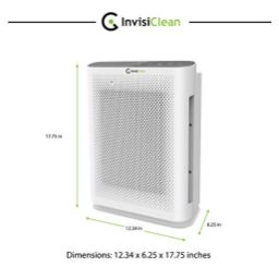 InvisiClean-Aura-II-Air-Purifier-4-in-1-True-HEPA-Ionizer-Carbon-UV-C-Sanitizer-Air-Purifier-for-Allergies-Pets-Home-Large-Rooms-Smokers-Dust-Mold-Allergens-Odor-Elimination-Germs