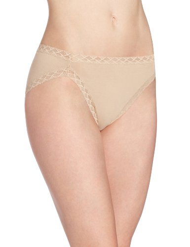 Natori Women's Bliss Cotton French Cut Panty, Café, Medium