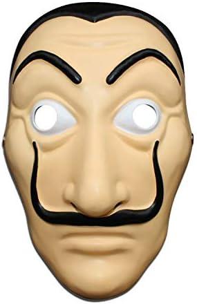 La Casa De Papel Mask Salvador Dali Mask Money Heist Funny Face Mask Mascaras De Halloween White Amazon Com Au Fashion