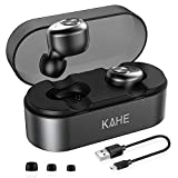 Wireless Earbuds, KAHE E18 True Wireless Headphones Bluetooth V5.0 Headphones HD Stereo Sound 15H Playtime TWS in-Ear Headset with Charging Case, Built-in Mic