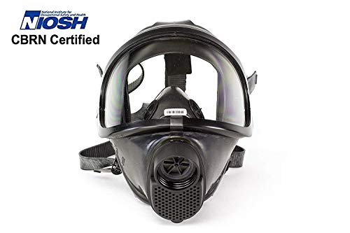 CDR 4500 Elite Military Grade Gas Mask For Nuclear , Biological & Chemical Warfare CBRN Protection Military Grade US NIOSH Certified Survival Full Face Mask For Kids Adults, Comfortable Robust Design