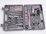 Purple 44-Piece Home Repair Ladies Tool Kit Set cordless screwdriver Great Gift