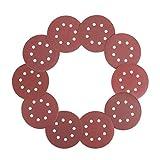 WORKPRO 100-piece Sandpaper Set - 5-Inch 8-Hole Sanding Discs