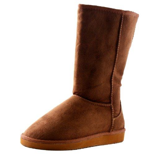 Soda Soong-S Comfort Boots, Dark Camel Suede, 6