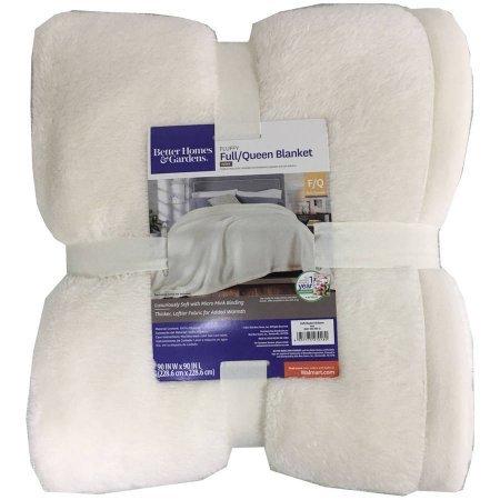 Ivory Fluffy Blanket, Full/Queen