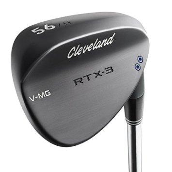 Cleveland Golf Men's RTX-3 Wedge, Left Hand, Steel, 46 Degree, Black Satin