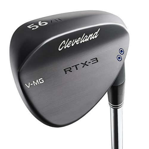 Cleveland Golf Men's RTX-3 VMG Wedge, Right Hand, Steel, 60 Degree, Black Satin