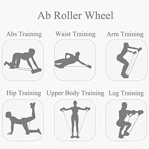 Darhoo Ab Roller Wheel - Ab Wheel Exercise Fitness Equipment - 5-in-1 Multi-Functional Core Ab Workout Abdominal Wheel Machine - Ab Roller Home Gym Equipment for Both Men & Women 4