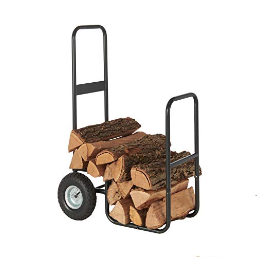HY-C SLCAD Shelter Log Caddy Firewood Mover - 150 lbs. Capacity, All-Steel Frame, Easy-Tilt Design