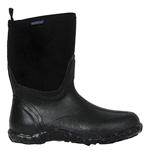 Bogs Men's Classic Mid Waterproof Insulated Rain Boot, Black, 13 D(M) US