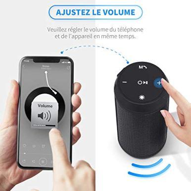 Enceinte-Bluetooth-Portable-Lumineuse-Haut-Parleur-Bluetooth-sans-Fil-avec-LED-Lumiere-Fonction-TF-Carte-TEL-ELEHOT