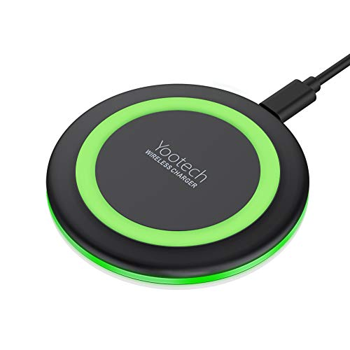 Yootech Wireless Charger Qi-Certified 7.5W Wireless Charging Compatible with iPhone Xs MAX/XR/XS/X/8/8 Plus,10W Compatible with Galaxy Note 9/S9/S9 Plus/Note 8,5W All Qi-Enabled Phones(No AC Adapter)