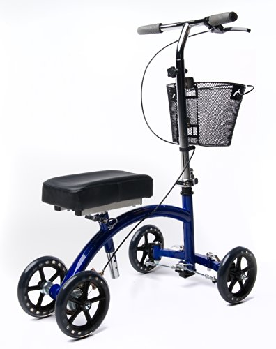 KneeRover Deluxe Steerable Knee Cycle Knee Walker  Scooter Crutch Different in Blue deal 50% off 41F580HuSML