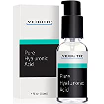 Hyaluronic Acid Serum for Face by YEOUTH - 100% Pure Clinical Strength Anti Aging Formula! Holds 1,000 Times Its Own Weight in Water, Plumps and Hydrates Skin, Reduces Wrinkle -All Natural Moisturizer