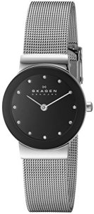 Skagen Women's Ancher Quartz Stainless Steel Mesh Casual Watch, Color: Silver-Tone (Model: 358SSSBD)