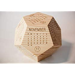 Solid Wooden Calendar 2020, Best Christmas Gift Ideas, Novelty Decorative Block Gift, Thanksgiving Gift Ideas, New Year Gifts