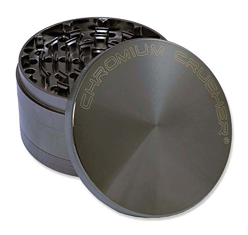 Chromium Crusher 4.0' Heavy Duty Durable Zinc Tobacco Spice Herb Grinder