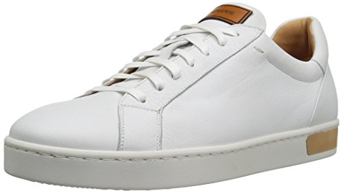 41FGyYdu16L Low-top sneaker with clean upper featuring padded collar and reinforced heel Contrast patch at tongue and heel