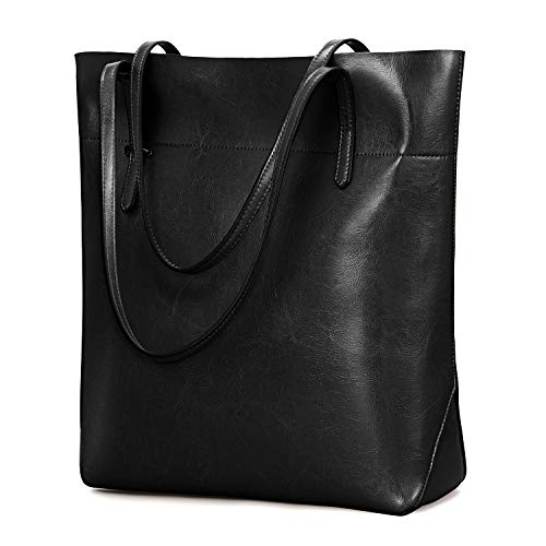Kattee-Vintage-Genuine-Leather-Tote-Shoulder-Bag-With-Adjustable-Handles