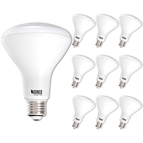 Sunco Lighting 10 Pack BR30 LED Bulb 11W=65W, 4000K Cool White, 850 LM, E26 Base, Dimmable, Indoor/Outdoor Flood Light - UL & Energy Star