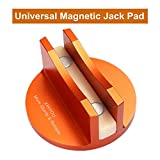 XINYOU Universal Magnetic Jack Pinch Weld Protector, Sturdy Aluminum Grooved Magnetic Floor Jack Pad Frame Rail Adapter