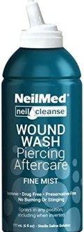 best aftercare for naval piercings - NeilMed