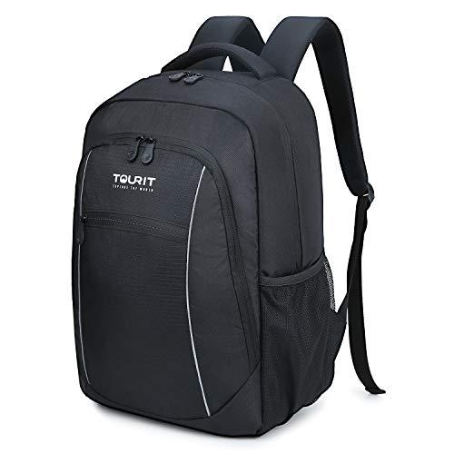 TOURIT Insulated Cooler Backpack Lightweight Backpack Cooler, Black, Size Large