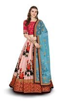 Zeel Clothing Women's Silk Semi-stitched Lehenga Choli