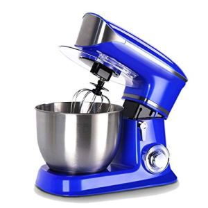 WJSW Stand Mixer,1300w Professional Food Stand Mixer Kitchen Cake Mixer Multi 6 Speeds with 6.5 L Stainless Steel Bowl Hook, Whisk & Beater Silver with Splash Guard 41FQqpFfJBL