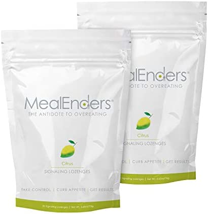 MealEnders Cravings Control Lozenges | Stop Overeating, Curb Cravings and Reduce Snacking | 25-Count Bag (2-Pack) (2X Citrus) 1
