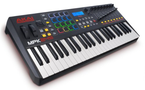 Akai Professional MPK249   49-Key USB MIDI Keyboard & Drum Pad Controller with LCD Screen (16 Pads / 8 Knobs / 8 Faders), VIP Software Download Included