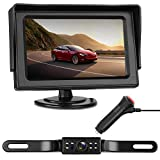 LeeKooLuu Backup Camera and Monitor Kit HD 720P Easy Installation for Cars,Trucks,Pickups Waterproof Night Vision Rear/Front View Camera One Power System Reverse/Continuous Use Grid Lines Adjustable