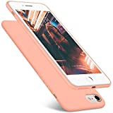 DTTO Case for Apple iPhone 7 and iPhone 8, 4.7 Inch, [Romance Series] Liquid Silicone Gel Rubber Shock-Absorption Bumper Cover, Anti-Scratch Back, Rose Gold