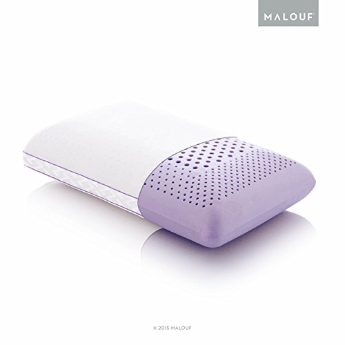 Z ZONED DOUGH Memory Foam Pillow Infused with Real Lavender - Natural Lavender Oil