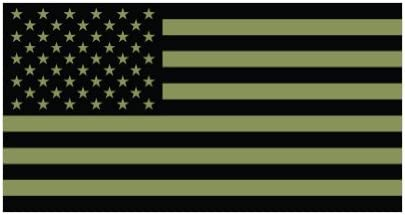 Amazon Com 2x 4 Subdued Od Green American Flag Color Sticker Decal Die Cut Automotive